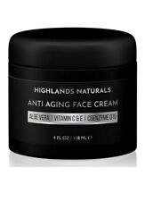 Highlands Naturals Men's Anti Aging Face Cream Moisturizer 4 Fl Oz