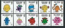 GREAT BRITAIN 2016 MR. MEN AND LITTLE MISS SET OF 10 SINGLES FINE USED