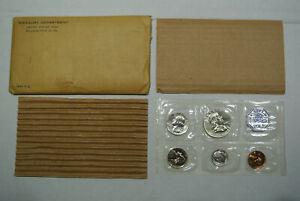 BEAUTIFUL ORIGINAL COINS!!! 1955 Flat Pack US MINT SILVER PROOF SET! LOT #CEM5
