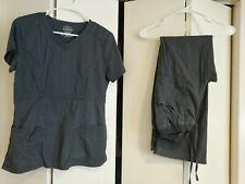 Cherokee Workwear Scrub Set Pewter Gray S XS