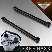 perfk Black Low Rider 10 Inch Lowering Kit Steel Rigid Struts Hardtail Shocks for Harley Wide Glide
