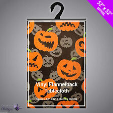 Pumpkins Jack O Lantern Vinyl Halloween Party Table Cloth Cover Decoration 132cm