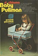 X9937 Carrozzina Baby Pullman_GRAZIOLI Giocattoli - Pubblicità 1976 - Advertis.