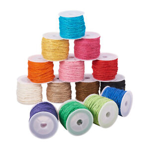 14 Rolls/Color Hemp Cords Twine String Round Wrapping Bracelet Threads Spool 2mm