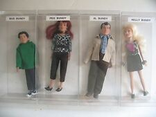 """Lot FIGURES TOY COMPANY Married with Children 8"""" Figures Al Bundy Peg Kelly Bud"""