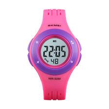 skmei watch trendy digital watches led waterproof kids boy girl alarm wristwatch