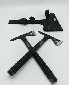 Lot of 2 Sog Tomahawk Throwing Axe With Sheathe