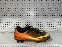 Nike Mercurial Victory IV FG Mens Soccer Cleats Size 7.5 Orange Volt Black
