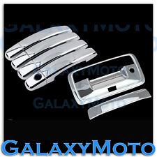 14-15 GMC Sierra 1500 Triple Chrome 4 Door Handle+Tailgate+Camera Hole Cover
