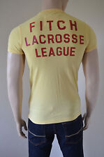 NEW Abercrombie & Fitch Haystack Mountain Lacrosse Yellow Tee T-Shirt XL