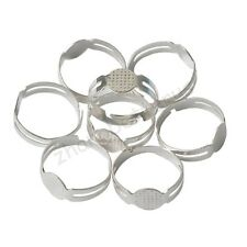 40 Pcs Silver Plated Adjustable Flat Pad  Ring Bases DIY Blank Findings 17mm