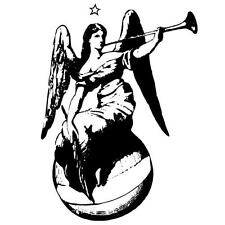 ANGEL large UNMOUNTED rubber stamp - Christmas, Peace on Earth, angle #7