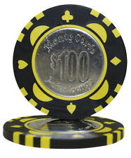 100pcs Monte Carlo Coin Inlay Poker Chips $100