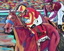 Preakness Horse Racing Original Art PAINTING DAN BYL Contemporary Large 4x5 feet