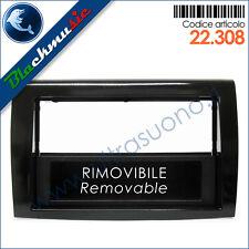 Mascherina supporto autoradio ISO-2DIN Fiat Bravo 2 (dal 2007) con portaoggetti