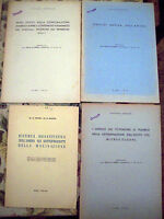 1941 LOTTO DI 4 OPUSCOLI SUL GRANO PEPERONI AMIDO MACINAZIONE CEREALI