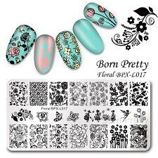 Nail Art Stamp Image Plate Floral Design Manicure Template BPX-L017 BORN PRETTY