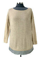 JOIE Cashmere Pullover Sweater Womens Size S Beige and Gray