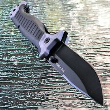 TAC-FORCE GRAY SPRING ASSISTED POCKET KNIFE Tactical Open Folding Blade MILITARY