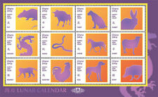 Ghana- Lunar Calendar Beijing Expo Stamp- Sheet of 12 MNH