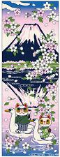 Maneki Neko Tenugui Tapestry Cotton 100% Printed Made in Japan  SAKASA FUJI