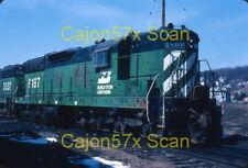 Original slide- BN SD9 #6187 At Savanna,IL. In 1979