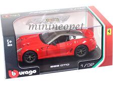 BBURAGO 18-44024 FERRARI 599 GTO 1/32 DIECAST MODEL CAR RED
