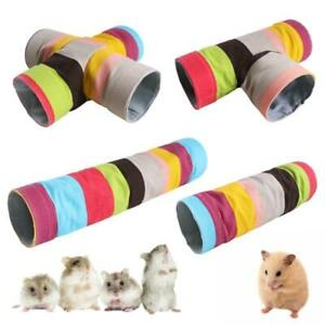 Guinea Pig Tunnels and Tubes Chinchilla Hideaway Toy Color Tunnel Easy to Fold