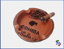 POSACENERE PORTACENERE COHIBA in Ceramica Con Pestello Mozzicone di Sigaro