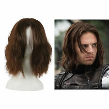 Captain America: Civil War Winter Soldier Wigs Brown Bucky Barnes Cosplay Wigs