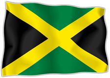 "Jamaica Country Flag Car Bumper Window Mirror Sticker Decal 5""X4"""