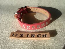 """#FC2*1/2""""PERSONALIZED FERRET LEATHER COLLAR MADE IN USA"""