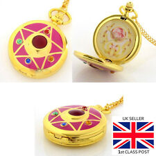 Sailor Moon Transformation Brooch pocket watch with long chain FREE SHIPPING!