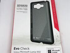 TECH21 EVO CHECK MICROSOFT LUMIA 950 TOUGH HARD SLIM CASE COVER SMOKEY BLACK