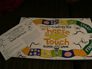 DIARY OF A WIMPY KID CHEESE TOUCH: REPLACEMENT GAME BOARD AND INSTRUCTIONS