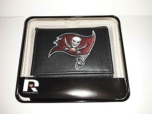 Tampa Bay Buccaneers NFL Embroidered Leather Tri-fold Wallet