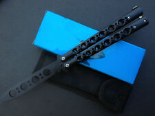 Metal Black Ring Practice Balisong Butterfly Knife Trainer Tool cool sports K016