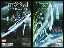 Tron Betrayal Comic Set 1-2 Lot Original Prequel to Disney's Tron Legacy Movie