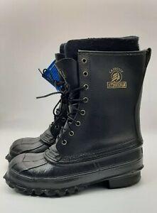LaCrosse Men's Outdoorsman Work Boots Size 7 Steel Toe Shank Waterproof Wool New