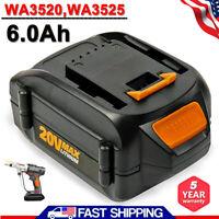 20V Max Lithium For Worx Battery WA3525 WA3520 WA3575 WA3578 WG154  WG151.5  6AH
