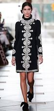 SOLD OUT Tory Burch Sylvia Embellished Crepe Mini Dress Black Sz 4 New STUNNING!