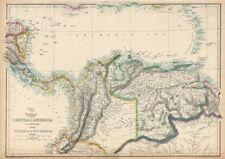 Sur de América Central. nuevo mosquito Granada Venezuela. Ettling 1863 Mapa Antiguo