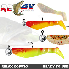 "Kopyto with jig head 2""-3"" 2pcs Lure fishing Relax Lures ready to use pre-rigged"