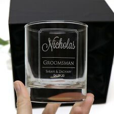 Engraved 300ml Scotch Glass Gift Boxed Box Wedding Personalised Bourbon Whiskey