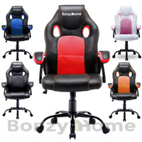 US Gaming Chair Swivel Office Executive Computer Desk Seat PU Leather Ergonomic