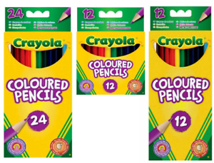 Crayola Coloured Pencils Pack of 12 & 24 Strong Lead Arts & Craft Supplies UK