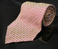 """JoS A Bank Corporate Collection Red Yellow Blue Silk Neck Tie 57"""" 3.75"""" wide"""
