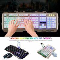G700 Colorful Backlight Gaming Keyboard Mouse Combo 104 Keys 2400dpi Waterproof