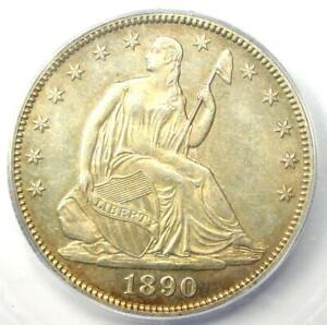1890 Seated Liberty Half Dollar 50C - Certified ICG MS60 PL (BU) - Rare Date!