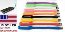 5 PCS Flexible Bright Mini USB LED Light Lamp Notebook Laptop Desk Radom Colors